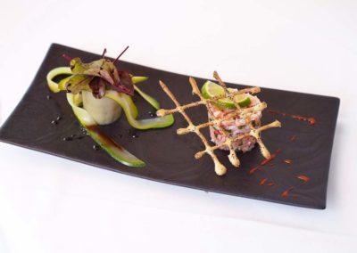 Hotel-La-Desirade-restaurant-plat-Tartare de Homard